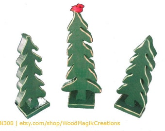 Rustic Christmas Tree Set