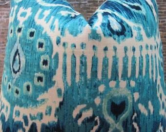 3BM Designer Pillow Cover Lumbar, 16 x 16, 18 x 18, 20 x 20 , 22 x 22, 24 x 24 - CRVA Turquoise Blue