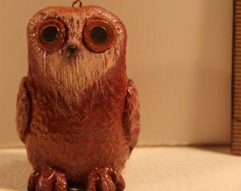 Reddish Brown Owl Figurine/Ornament