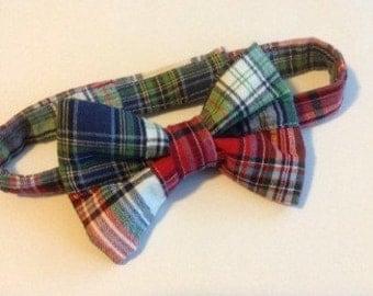 Boy's BowTie -Boys- Preppy Madras Bow Tie
