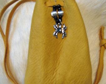 Spider Totem Medicine Bag Leather Bag Pouch