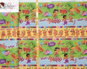 IN STOCK Candyland Gingerbread Stripe - Game Original Artwork Quilting Treasures - See description for full prices - BTY
