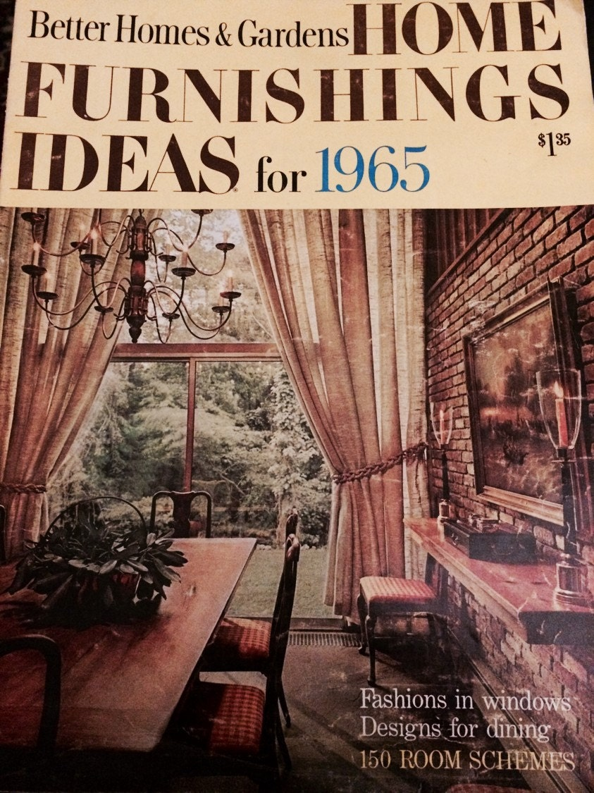 Better Homes Gardens Home Furnishings Ideas For 1965