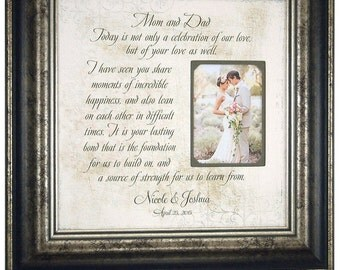 Wedding Gift For Parents, Mother of the Bride Gift, Wedding Frames, Wedding Gift for Dad, Today A Celebration of Love, 16 X 16
