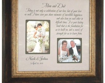 Personalized Picture Frame Parents of the Bride Parents of the Groom Wedding Gift picture frame, CELEBRATION OF LOVE 16x16