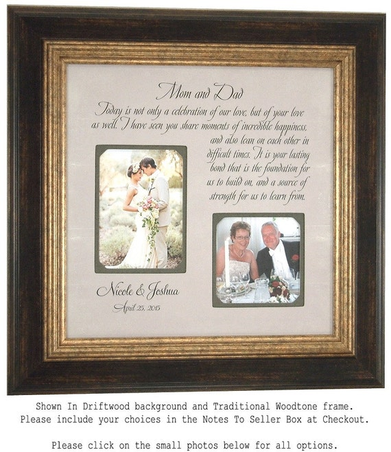 Personalized Picture Frame Parents of the Bride Parents of the Groom ...