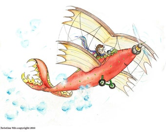 The Air Book Plane, Flying Up by Christine Mix, copyright 2014.
