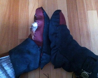 multi piece leather/cowhide  moccassins