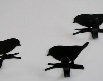 Chickadee Single Hook set of 3