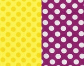 Cotton Fabric - Polka Dots by Michael Miller - Magenta or Yellow