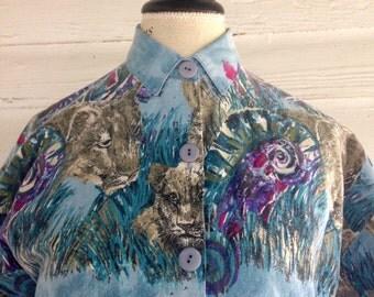 Vintage 1980s Denim JUNGLE Shirt