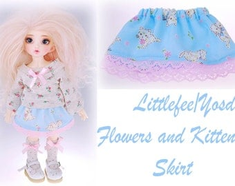 Littlefee YoSD Flower and Kittens Skirt
