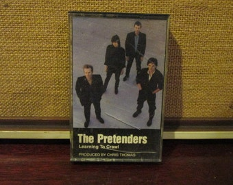Tested and Working Vintage Audio Cassette Tape The Pretenders Learning To Crawl VG Condition
