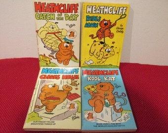 4 Vintage Paperback Books Heathcliff  Cartoon Books by Geo Gately