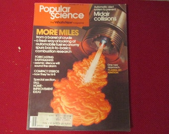 Collectible Popular Science Magazine September 1979 Plasma Jet Ignition Engines Cover Good - Very Good Condition Great Ads