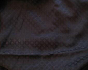 Cupro/Wool Shirting: Black