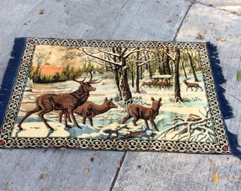 This Vintage Deer Tapestry Is Ready To Become Your New Carpet Bag