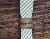 Skinny Tie || Brown Ticking Stripe