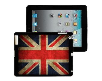 iPad 2/3/4 - iPad Mini - snap on plastic case - United Kingdom UK Flag grit design