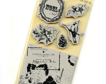 Cling Mounted Christmas Rubber Stamps from Recollections