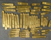 50 Vintage Williams Pump Organ Brass Reeds....Upcycle...Recycle.....Steampunk......Think of the Possibilities