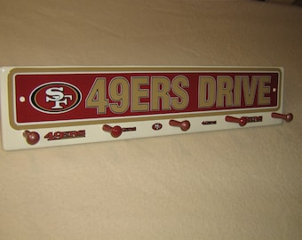 "San Fransisco 49ers coat rack ""hangup"""