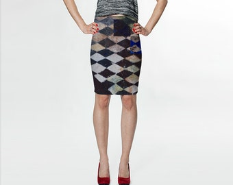 Fitted Skirt - Tube Skirt - Teen Skirt - Printed Skirt- Pencil Skirt - High Waisted Skirt - Evening Wear