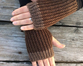 Mens Fingerless Gloves, Fingerless Gloves, Hand Warmers, Knit Texting Gloves, Knit Gloves,  Fingerless Mittens, Mens Gloves