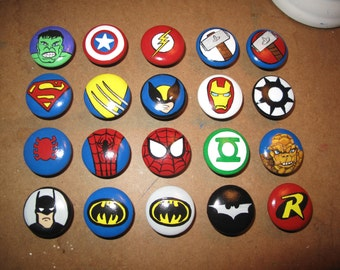 Customized Superhero dresser knobs