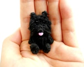Black Scottish Terrier - Crochet Miniature Arberdeen Dog Stuffed Animals - Made To Order
