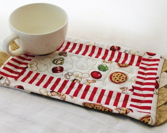 A Pizzaria Masterpiece Quilts Mug Rug III