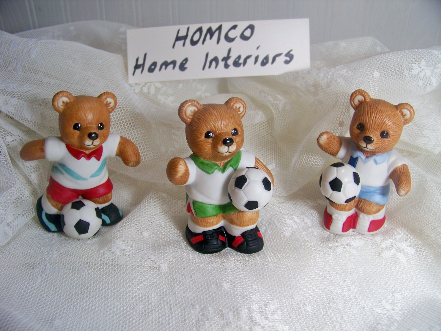 home interior bears home interiors bears soccer bears homco 12179