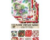 "Scrapbooking Craft Paper Pack (24pcs 6""x6"") FLONZ 036 Christmas Decorations"
