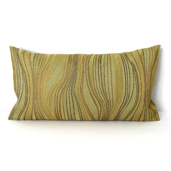 Decorative Lumbar Pillows Green : Lumbar Pillow Cover Green Abstract Decorative by couchdwellers