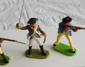 Three Elastolin American Revolution Soldiers