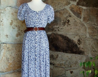 90s DAISY MAXI DRESS vintage romantic button front Jonathan Martin M