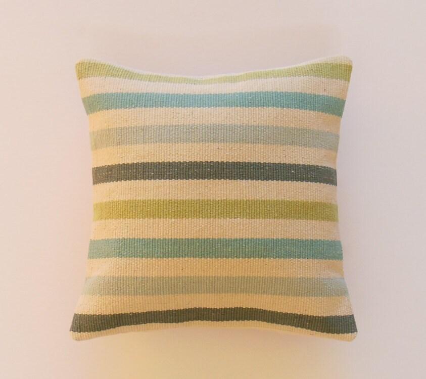 Blue And Aqua Throw Pillows : Blue Green Aqua Pillows Decorative Throw Pillows by JacqueAnnDecor