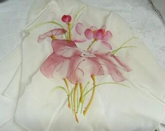 Gorgeous Silk Scarf Screen Printed, 100% Silk Scarf, Women's Accessory