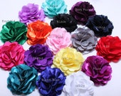 2 Pcs Silky satin mesh flowers 3Inch-Fabric flowers-wholesale silk flower-Wholesale DIY Supplies-Headband Flower-Applique-Hair Accessories