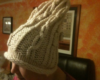 Wool knitted Slouchy hat