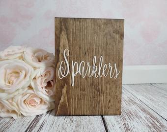 Wedding Sparklers Box Large Sparklers Holder Tall Wedding Sparklers Box Rustic Wedding Sparklers Sign #DownInTheBoondocks