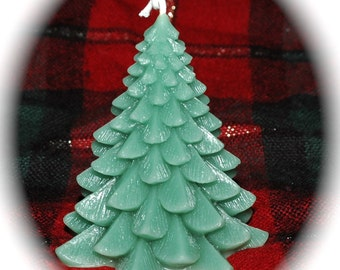 Christmas Tree Candle ~ Pure Beeswax Christmas Tree Candle ~ Green Fir Tree Beeswax Candle