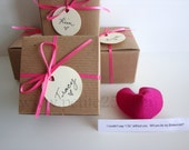 Set of NINE (9) -- Felt Fortune cookie, wedding favor, place card, secret message, Will you be my bridesmaid