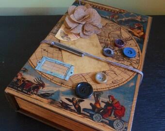Travel Memento Box / Scrapbook / Travel Journal