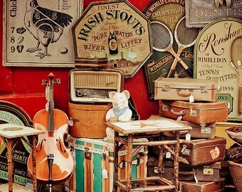 "London Photography Print, London Art Print, Notting Hill Antique Shop,"" Portobello Road"""