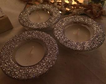 Super Sparkly Glitzy Glass Tealight Holder