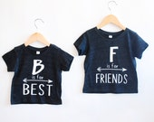 Best Friends Tee -Inspirational Alphabet - Child t-shirt - tee - raglan - toddler, baby, infant - American Apparel