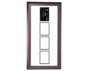 3 4 5 6 7 Multi Opening Vertical Mahogany Picture Frame with Black Mat to hold 4x6 photographs for your Personalized Name Wedding or Collage