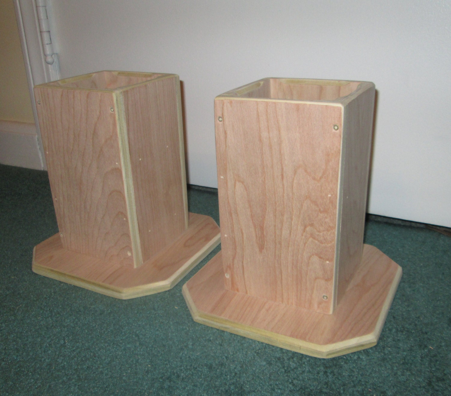 Dorm Room Bed Risers, 6 Inch All Wood Construction, Unfinished Square  Design   Raise Part 65