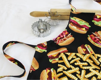 Hamburger and French Fries Child Apron